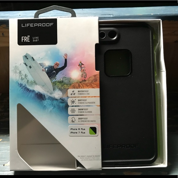 new style 0472f 4966b Lifeproof Fre Live 360 black case iPhone 7, 8 Plus NWT